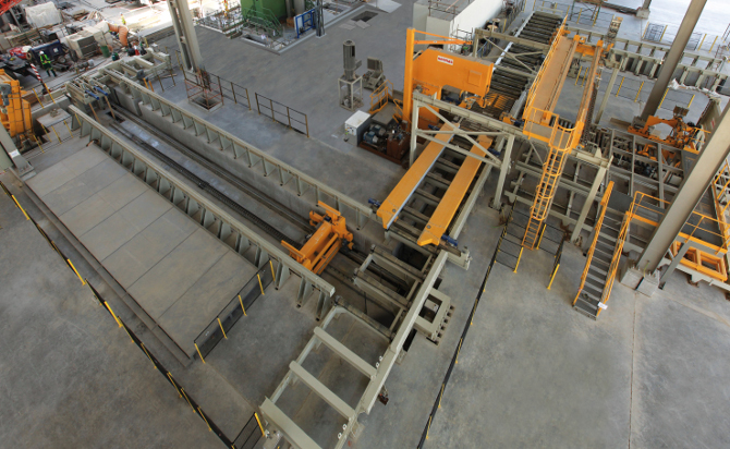 Sawing line by Sermas Industrie