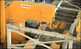 Block saw by Sermas Industrie